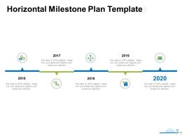 Horizontal Milestone Plan Template Ppt Powerpoint Presentation Gallery Shapes