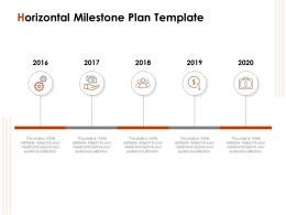 Horizontal Milestone Plan Template Ppt Powerpoint Presentation Layouts Example Topics