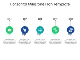 Horizontal Milestone Plan Template Ppt Powerpoint Presentation Pictures
