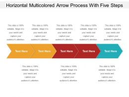 Horizontal Multicolored Arrow Process With Five Steps