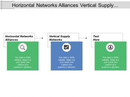 Horizontal Networks Alliances Vertical Supply Networks Internal Network Collaboration