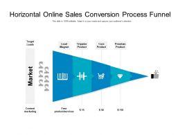 Horizontal Online Sales Conversion Process Funnel