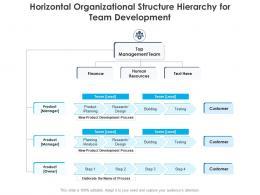Horizontal Organizational Structure Hierarchy For Team Development