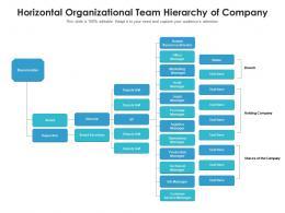 Horizontal Organizational Team Hierarchy Of Company