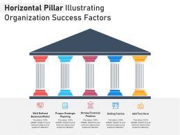 Horizontal Pillar Illustrating Organization Success Factors