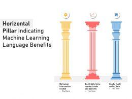 Horizontal Pillar Indicating Machine Learning Language Benefits