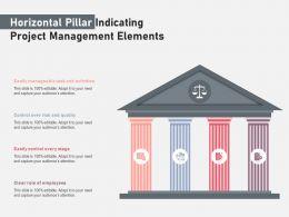 Horizontal Pillar Indicating Project Management Elements