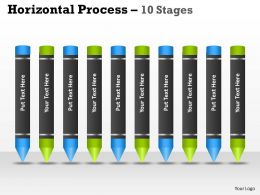 Horizontal Process 10 ppt diagram 2