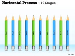 Horizontal Process 10 Stages diagram 1