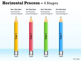 Horizontal Process 4 Stages ppt diagram 7