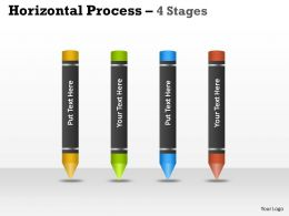 Horizontal Process 4 Stages template 8