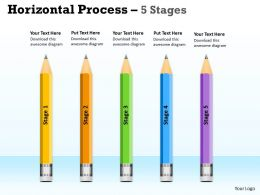 Horizontal Process 5 Stages ppt diagram 3