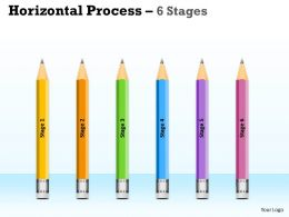 Horizontal Process 6 Stages colorful design 3