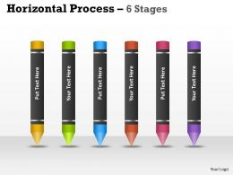 Horizontal Process 6 Stages ppt 4