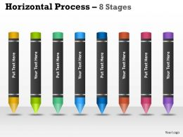 Horizontal Process 8 Stages ppt diagrams 4