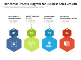 Horizontal Process Diagram For Business Sales Growth