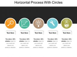 Horizontal Process With Circles
