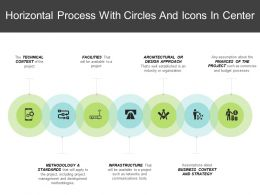 Horizontal Process With Circles And Icons In Center