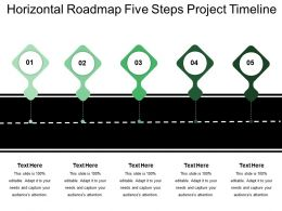Horizontal Roadmap Five Steps Project Timeline