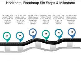 Horizontal Roadmap Six Steps And Milestone