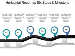Horizontal Roadmap Six Steps And Milestone