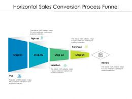 Horizontal Sales Conversion Process Funnel