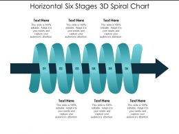 Horizontal Six Stages 3d Spiral Chart