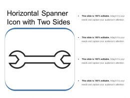 Horizontal Spanner Icon With Two Sides