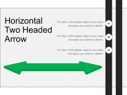 Horizontal Two Headed Arrow