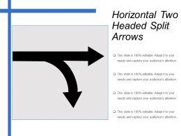 Horizontal Two Headed Split Arrows