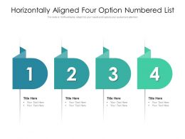 Horizontally Aligned Four Option Numbered List