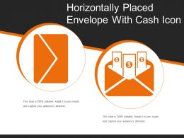 Horizontally Placed Envelope With Cash Icon