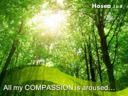 Hosea 11 8 All my compassion is aroused PowerPoint Church Sermon