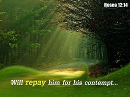 Hosea 12 14 Will Repay Him For His Contempt Powerpoint Church Sermon