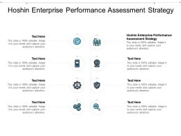 Hoshin Enterprise Performance Assessment Strategy Ppt Powerpoint Presentation Cpb