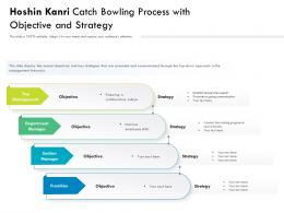 Hoshin Kanri Catch Bowling Process With Objective And Strategy