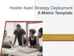 Hoshin Kanri Strategy Deployment X Matrix Template Powerpoint Presentation Slides