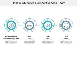 Hoshin Objective Competitiveness Team Ppt Powerpoint Presentation Infographics Cpb