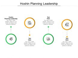 Hoshin Planning Leadership Ppt Powerpoint Presentation File Deck Cpb