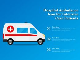 Hospital Ambulance Icon For Intensive Care Patients