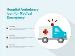 Hospital Ambulance Icon For Medical Emergency