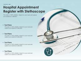 Hospital Appointment Register With Stethoscope