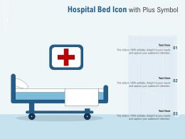 Hospital Bed Icon With Plus Symbol