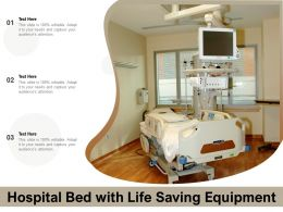 Hospital Bed With Life Saving Equipment