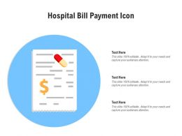 Hospital Bill Payment Icon