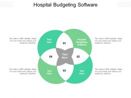 Hospital Budgeting Software Ppt Powerpoint Presentation Inspiration Example Cpb
