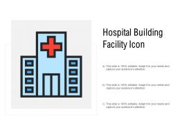 Hospital Building Facility Icon