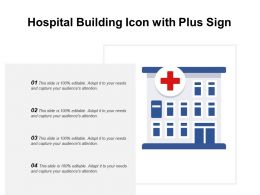 Hospital Building Icon With Plus Sign