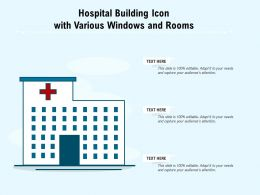 Hospital Building Icon With Various Windows And Rooms