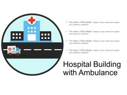 Hospital Building With Ambulance
